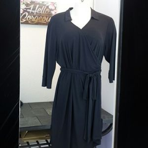 Attention 3/4 sleeve wrap dress 2X
